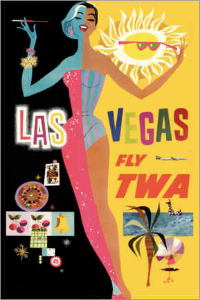 Cuadro de madera  Las vegas - Travel Collection