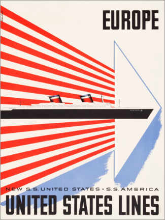 Póster United States Lines