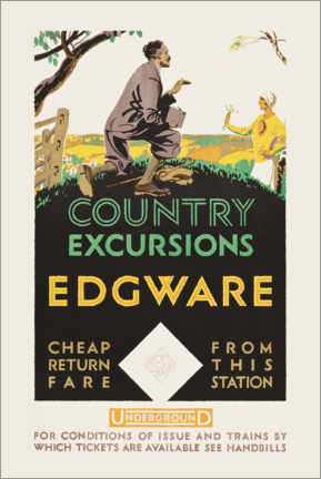 Póster  Country excursions, Egware - Travel Collection
