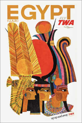 Lienzo  Egipto a través de TWA - Travel Collection