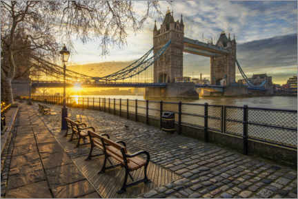 Lienzo  Tower Bridge en Londres al amanecer - Dieter Meyrl