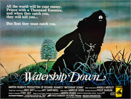 Póster  Watership Down - Entertainment Collection