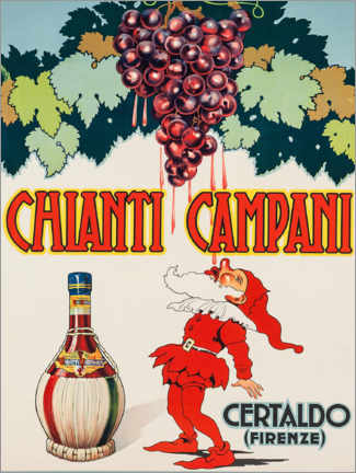 Vinilo para la pared  Chianti Campani - Advertising Collection