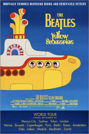 Cuadro de madera  Los Beatles - Yellow Submarine - Entertainment Collection