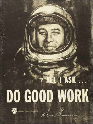 Póster  Do Good Work! - Gus Grissom - Entertainment Collection