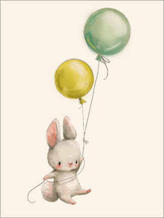 Lienzo  Conejito con globos - Kidz Collection
