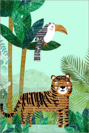 Póster  Tigre y tucán - GreenNest