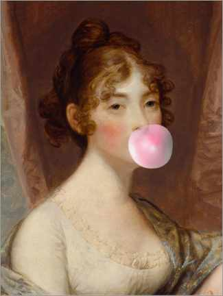 Póster Chica con chicle II