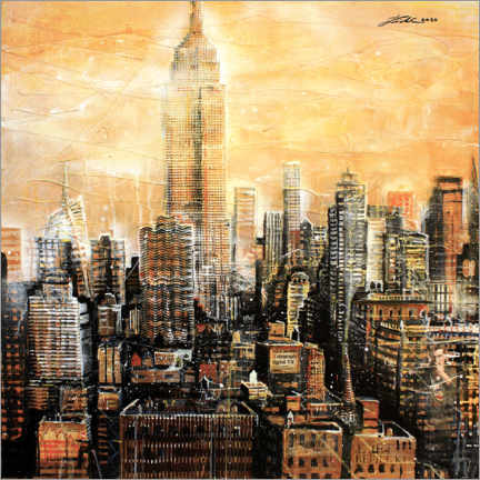Póster  Nueva York, Empire State Building - Johann Pickl