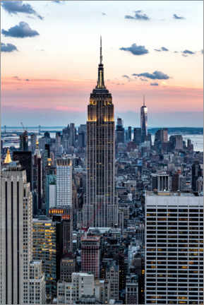 Póster Empire State Building Sunset, Nueva York