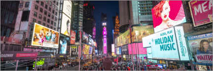 Póster  Panorama de Times Square - Jan Christopher Becke