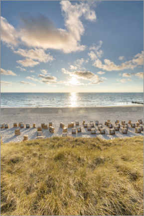 Póster  Sillas de playa en Sylt - Jan Christopher Becke