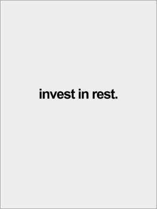 Póster Invest in rest