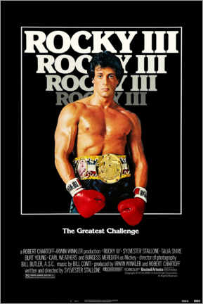 Cuadro de metacrilato  Rocky III - Entertainment Collection