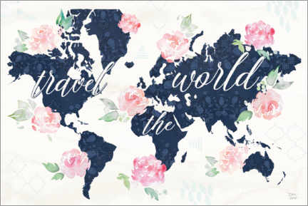 Cuadro de PVC  Travel the world map - Dina June