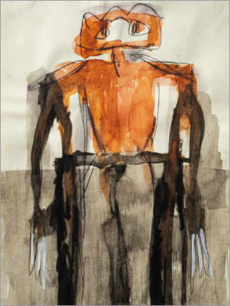Póster  Orange Body Figure - MASCH ART
