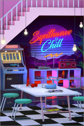 Póster  Synthwave And Chill - Denny Busyet