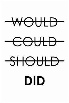 Lienzo  Would, could, should, do (inglés) - Typobox