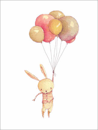 Póster Flying Bunny
