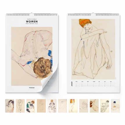 Calendario de pared  Egon Schiele, Women 2021 - Egon Schiele