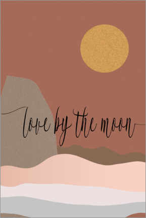 Póster  Love by the moon - Dani Jay Designs