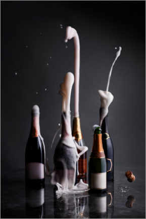 Póster  Abrieron botellas de champagne - The Picture Pantry