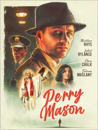 Cuadro de madera  Perry Mason - The Usher designs