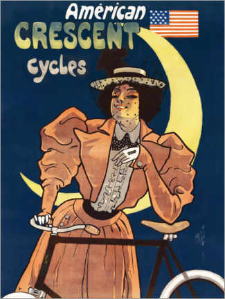 Póster Crescent Cycles