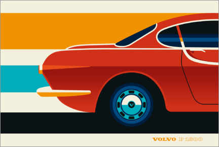 Póster Volvo P1800 red