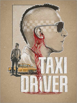 Póster  Taxi Driver - The Usher designs