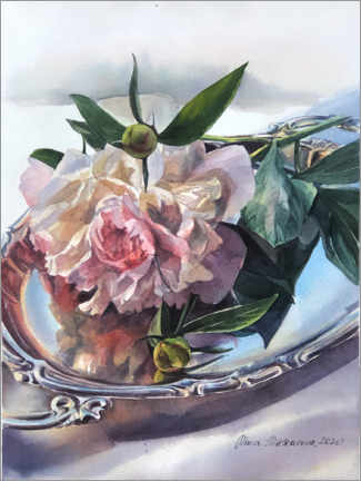 Póster Still life with a peony