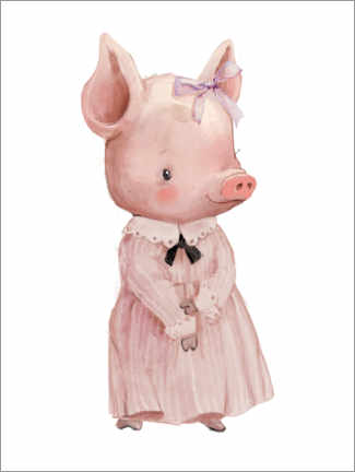 Lienzo  Piggy en un vestido rosa - Kidz Collection