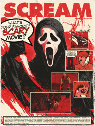 Cuadro de metacrilato  Scream - The Usher designs
