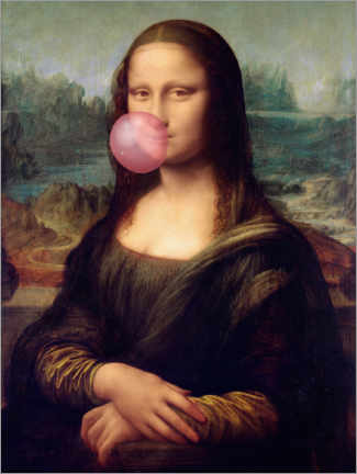 Póster Mona Lisa con chicle