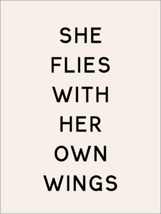 Póster She flies with her own wings