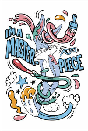 Póster  Bugs Bunny - I'm a masterpiece