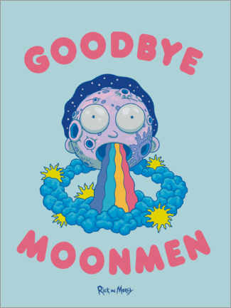 Póster  Rick and Morty - Goodbye Moonmen