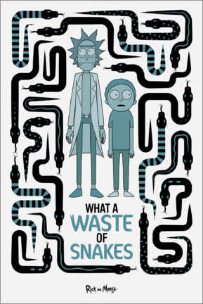 Póster  Rick and Morty - Waste of Snakes