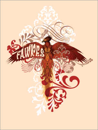 Póster  Harry Potter - Fawkes