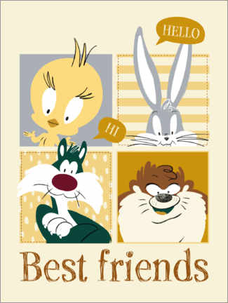 Póster  Looney Tunes - Best friends