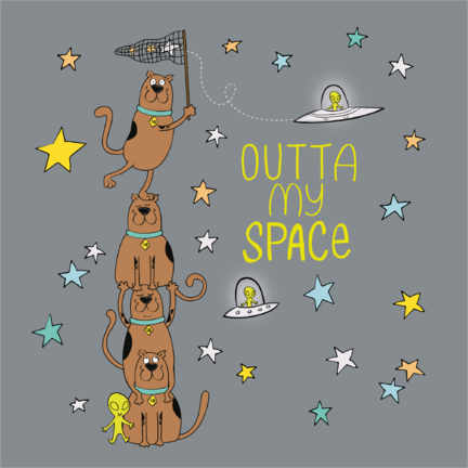 Póster  Scooby - Outta my space