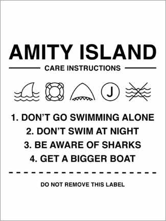 Póster  Amity Island - Care instructions
