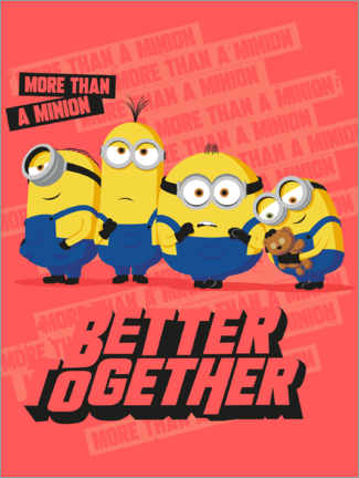 Póster  Minions Better Together