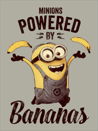 Póster  Minions - Powered by Bananas