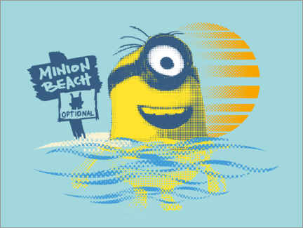 Póster  Minion Beach