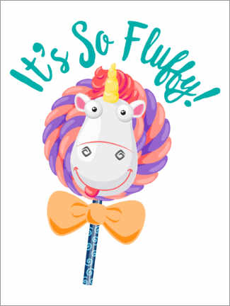 Póster Minions - Fluffy Unicorn