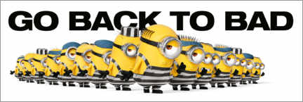 Póster  Minions - Back to bad