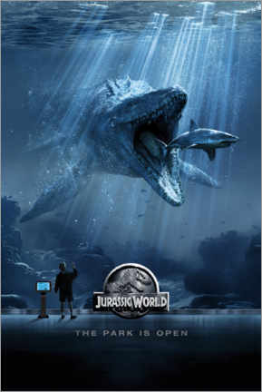 Vinilo para la pared  Jurassic World - Mosasaurus