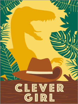 Póster  Clever Girl
