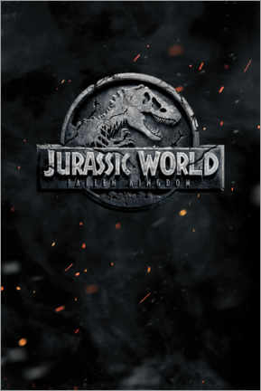 Póster  Jurassic World - Fallen Kingdom (inglés)